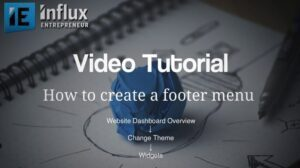 How To Create a Footer Menu