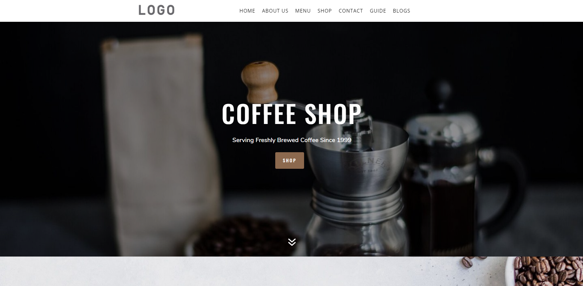coffee shop divi child themes
